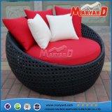 Base redonda do sofá do Lounger de vime confortável de Sun do jardim 2016