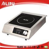 cocina comercial de la inducción del entramado de acero inoxidable de la eficacia alta 3500W