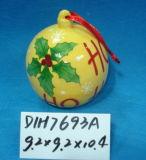 Bagattelle d'attaccatura di ceramica rotonde per la decorazione di natale