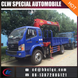 4X2 Foton 4tのトラックによって取付けられるクレーン