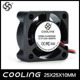 Fábrica pequena do ventilador do motor da C.C. do ventilador de fluxo axial 25X25X10mm 3.3V 5V 12V bom preço da mini