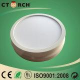 Eficiência elevada redonda de superfície plástica 6W de lâmpada de painel do diodo emissor de luz