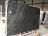 Schwarzer Marmor, schwarzes Holz, hölzerner Marmor, Marmorplatte