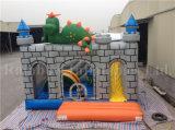 Castillo de salto del dinosaurio inflable, parque de atracciones del patio de Inflatables de los cabritos