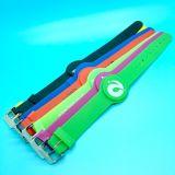 Braccialetto registrabile dei wristbands di pagamento MIFARE DESFire EV1 2K RFID di posizione Cashless