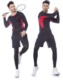 Abiti sportivi respirabili personalizzati di Wicking dell'umidità di ginnastica di colore per l'uomo