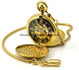 Het Zakhorloge van het Messing van het Embleem van de Douane van de Fabriek van het horloge met Japan Movt