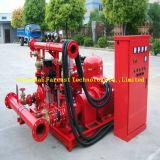 Pompe à eau de lutte contre l'incendie d'entraînement de moteur diesel avec la pompe de jockey
