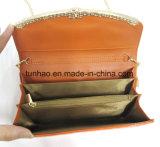 Goldmetalldekor-Frauen-Patent PU-lederne Kettenschulter-Handtasche