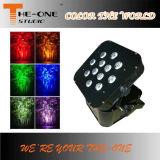 la IGUALDAD plana de Powred de la radio y de la batería de 12*17W RGBWA+UV 6in1 LED puede