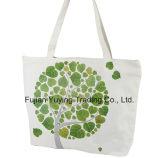 Sacchetto organico promozionale del cotone personalizzato bianco