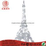 Im Freien der Dekoration-LED Motiv-Licht Eiffelturm-der Beleuchtung-3D für Feiertags-Hochzeit