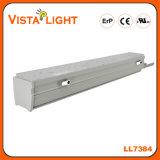 Suspensão branca morna que ilumina a luz linear do pendente para fábricas