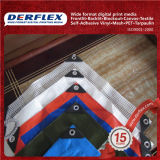 Reinforced Plastic Tarpaulin for Tent, Bag, Truck Cover and Inflatable Boat