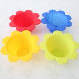 Doublures de gâteau de silicones avec la forme de fleur