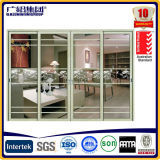Finestra di scivolamento triplice di vetro di alluminio della Cina con lo schermo
