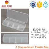 Boîte de lure de pêche transparente à 5 compartiments