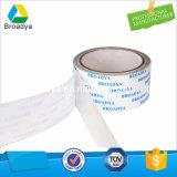 Impermeable cinta de doble cara Tissue Adhesivo para placas de identificación (Carrier tejido recubierto con base de solvente)