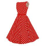 Печатание Одри Hepburn киски плюс платье хлопка размера для девушок