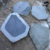Natural Black Pavimentação Irregular Garden Decoration Stone
