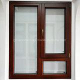 Guichet en verre en bois solide de tissu pour rideaux double avec l'ajustage de précision allemand de marque