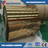 Bobine en aluminium/feuille de couleur de fini d'or de miroir pour la décoration d'éclairage