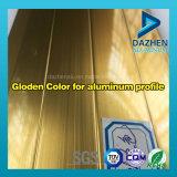 ذهبيّة يؤنود ألومنيوم بثق قطاع جانبيّ مع ألوان مختلفة