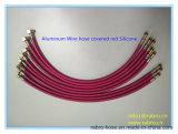 Acier inoxydable ou boyau tressé flexible en métal de fil d'aluminium couvert par les silicones rouges