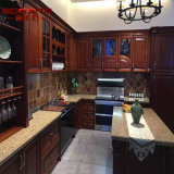 Module de cuisine en bois de teck américain de villa (GSP9-001)