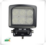 High Power Square 60W LED Work Light, lâmpada LED High Lumen 5100lm para caminhão e Buldozer