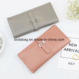 Nessuna signora femminile Multi-Function Zipper Clutch Wallet della borsa di colore della caramella di modo delle donne del cuoio genuino di marca di MOQ come piccolo accessorio per il commercio all'ingrosso (BDX-171003)