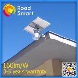 8W integrado inteligente solar alimentado luz LED al aire libre