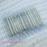 ポリエステルファブリックは女性の服の正式のホーム織物のためのジャカードファブリック化学ファイバーの銀ポリエステルファブリックによって編まれたファブリックを染めた