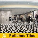 床および壁のダイヤモンド600X600mmのためのPorjectの白くおよび黒い磨かれた磁器のタイル