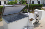 Миниая тележка мороженного с тележками Van Tucks Мини замораживателя холодильника Refrigerated