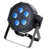 IGUALDAD plana de 5X10W RGBW 4in1 LED para la iluminación de DJ