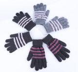 Цветастые Striped перчатки экрана касания связанные акриловые