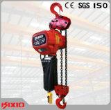 alzamiento de cadena eléctrico 10t con el equipo de elevación del gancho de leva
