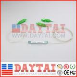 FTTH SC / APC 0,9 mm fibra óptica de modo único PLC Splitter 1 * 2