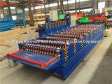 Azotea que hace que el fabricante trabaja a máquina el rodillo galvanizado de aluminio del azulejo del cinc que forma la máquina