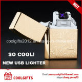 Briquets ignifuges USB à charbon USB Briquets à encastrer à double arc