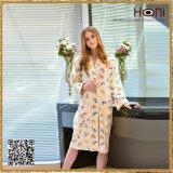 Peignoir de vente chaud de configuration de fleur des femmes D-010