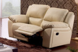 Sofá moderno do Recliner de Genuineleather da sala de visitas ajustado (HC015)
