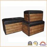 خشبيّ زخرفيّة تخزين شنطة/قفص صدر, مجموعة من 3
