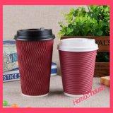 Copo de papel impresso personalizado para o café quente