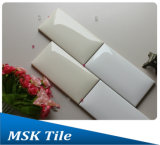 de brood-Blik van de Glans van 75X150mm de Beige Glanzende Ceramische Tegel van de Muur