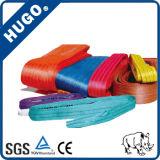 1-10 facteur de sûreté plat de courroie de bride de sangle de polyester d'élingue de levage de tonne