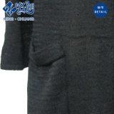Vestito sexy di estate del V-Collo del manicotto della casella lunga nera di prospettiva