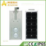 25W novo 5 da garantia anos de luz solar do diodo emissor de luz Intagreted com bateria de lítio e o controlador esperto do tempo