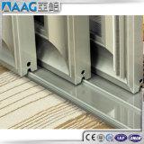 Porte coulissante en verre en aluminium d'épreuve saine double